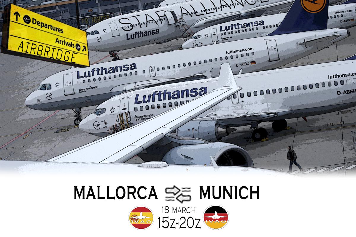 [ES+DE] PALMA DE MALLORCA - MUNICH AIRBRIDGE