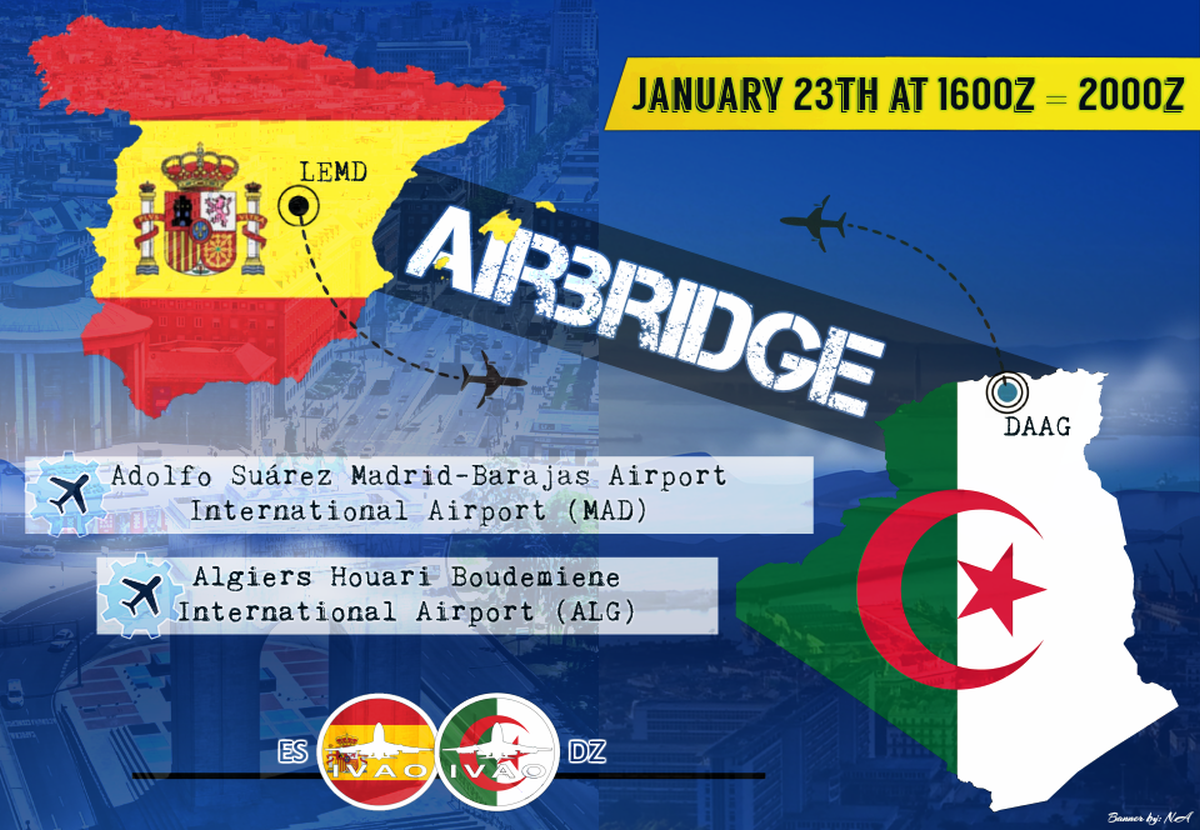 [DZ + ES] Algiers - Madrid Airbridge
